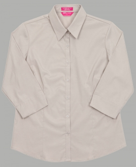 4PLU3 Ladies Urban 3/4 Sleeve Poplin Shirt