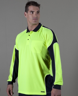 JB's hi Vis 4602.1 L/S Arm Panel Polo