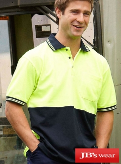 JBs HIVis cotton Back Polo