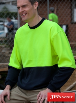 JBs HiVis Fleecy Crew Neck Jumper