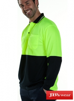 JBs HiVis L/S Traditional Polo