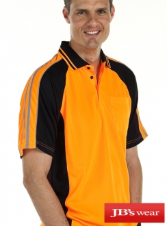 JBs Hi Vis Arm Tape Polo