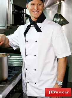 JBs Short Sleeve Chefs Jacket