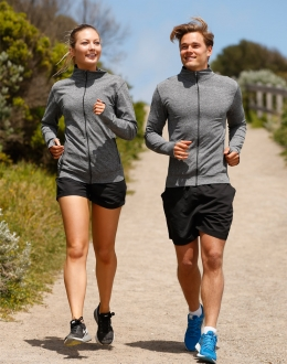 JK39 Unisex Adults Seamless Heather Jacket