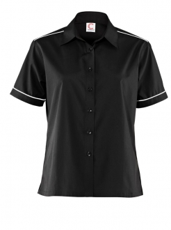 LADIES SHORT SLEEVE SHIRT WITH PIPING