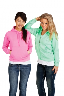 Ladies/Junior Non Zip Fluro Hoodie