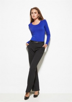Ladies Mid Rise Comfort Wool Stretch Adjustable Waist Pant