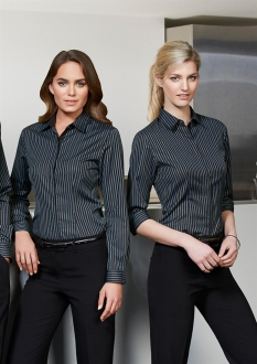 S415LT Ladies Reno Stripe ¾/S Shirt