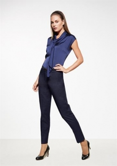 Cool Stretch Ladies Plain Slim Leg Pant
