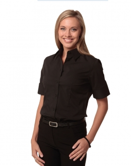 M8020S Ladies Cotton/Poly Stretch Shirt SS