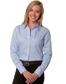 M8030L Fine Twill Shirt Ladies LS