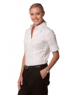 M8030S Ladies Fine Twill Shirt SS