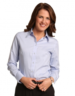 M8040L Ladies CVC Oxford Shirt LS