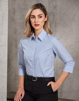 M8233 Ladies 3qtr Balance Stripe Shirt