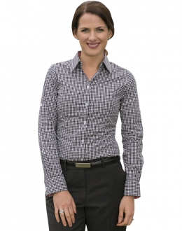 M8330L Ladies Gingham Check Shirt LS