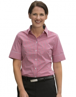 M8330S Ladies Gingham Check Shirt SS