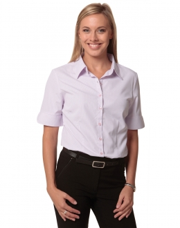 M8360S Ladies Mini Check Shirt SS