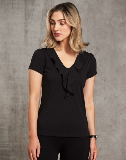 M8820 Benchmark Ruffle Front Blouse
