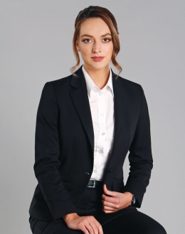 M9201 Ladies Wool Blend Stretched Crop Jacket