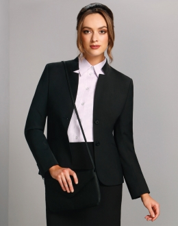 M9202 Ladies Wool Blend Stretch Reverse Lapel jacket