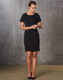 M9282 Ladies Poly/Viscose Stretch SS Dress