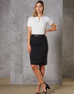M9470 Women's Stretch Wool Blend Skirt