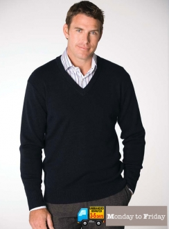 Men's Long Sleeve V-Neck Pullover
