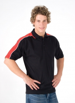 Mens Shoulder Panel Polo