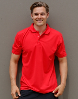PS81 Mens Cooldry Polyester Pique Polo