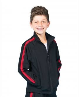 Podium Kids Dual Stripe Warm Up Jacket