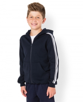 Podium Kids P/C Dual Stripe Full Zip Hoodie