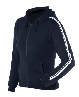 Podium Ladies P/C Dual Stripe Full Zip Hoodie