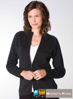 Pointelle Cardigan With 2 Way Zip
