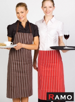 Ramo Striped Long Waist Apron