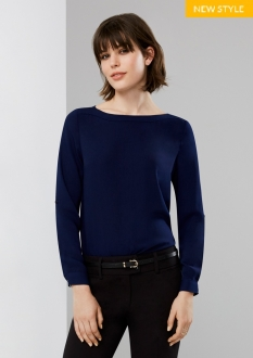 S828LL Madison Ladies Boatneck Blouse