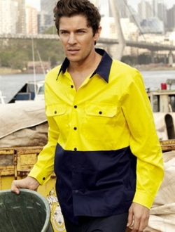 SS1013 Hi Vis Cotton Twill Shirt Long Sleeve