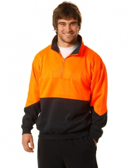 SW13A HiVis Fleecy Sweat Jumper