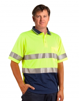 SW17AL Hi Vis Polo with 3M Tape SS Larger
