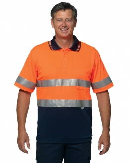 SW17A Hi Vis Polo with 3M tape SS