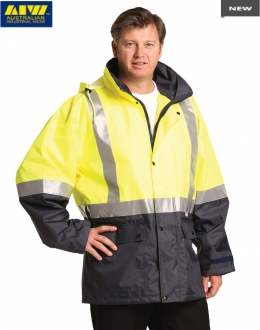 SW18AL HiVis Safety Jacket Mesh Lining Reflective Tape Unisex Larger