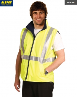 SW19AL HiVis Safety Vest Mesh Lining Reflective Tape Unisex Larger