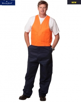 SW202 Mens Heavy Drill Safety Overalls Stout