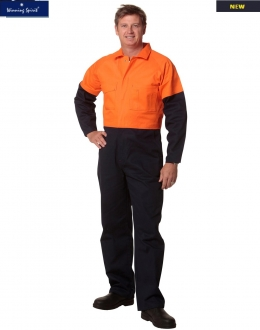 SW205 Mens Two Tone Heavy Cotton Overalls Stout