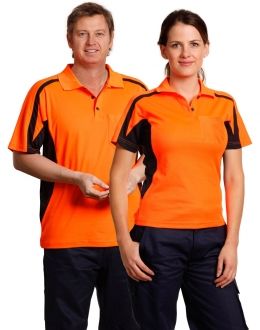SW25 TrueDry Fashion Hi Vis polo with underarm Mesh SS