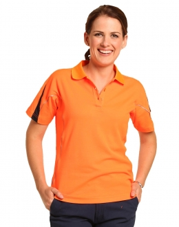 SW26A Ladies Legend TrueDry Hi Vis Polo with reflective piping