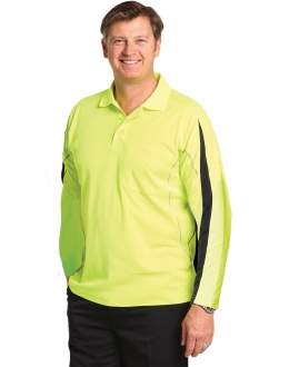 SW33A Truedry Hi Vis Polo with reflective piping