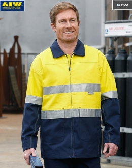 SW46 HiVis Cotton Jacket with tape