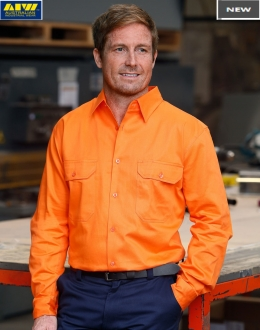 SW51 HiVis Long Sleeve Drill Shirt