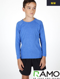 T224KS Kids L/S Heather Tees