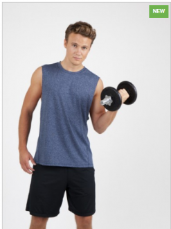 T403MS Heather Tank Top Mens